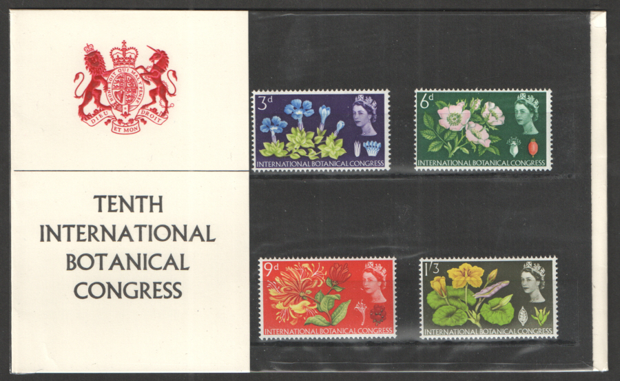 1964 Botanical Congress Type B - Solid Red Collar Presentation Pack